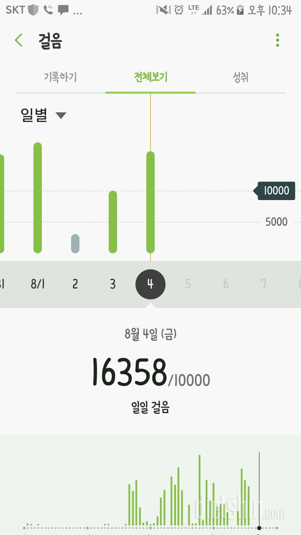 30일 만보 걷기 33일차 성공!