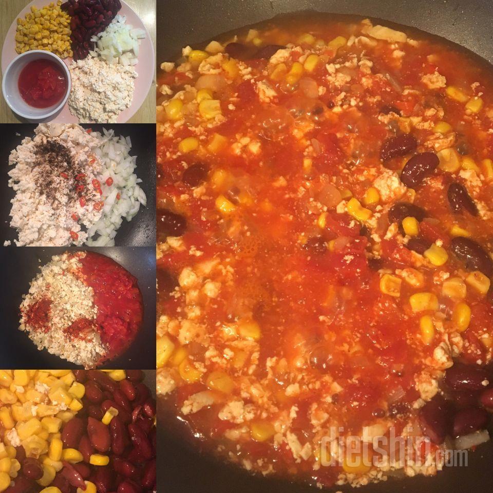 매콤한 강낭콩 요리 (Chili sin carne)