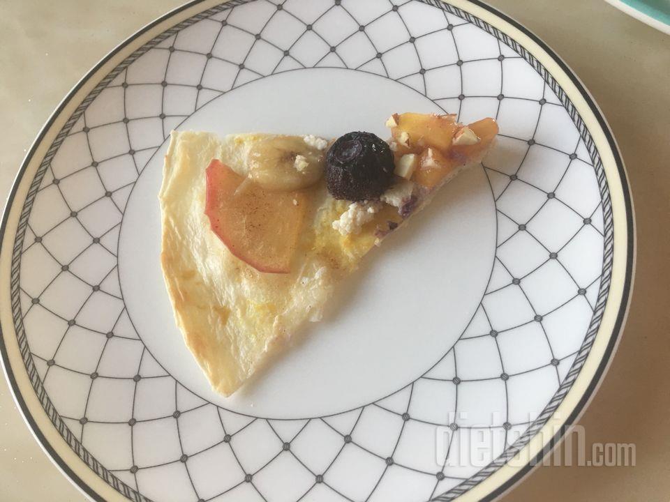 사과시나몬 피자&두유치즈