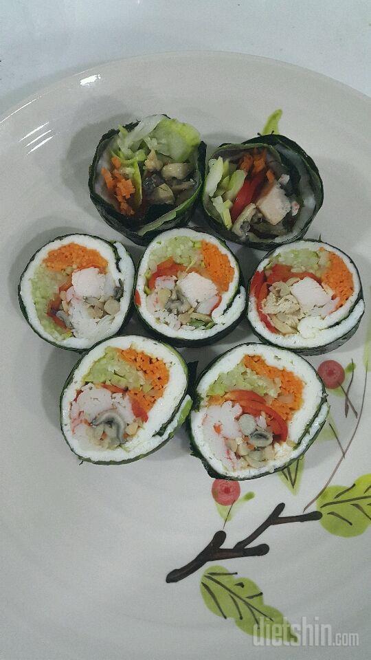 한끼식사로 맛있는 다이어트김밥