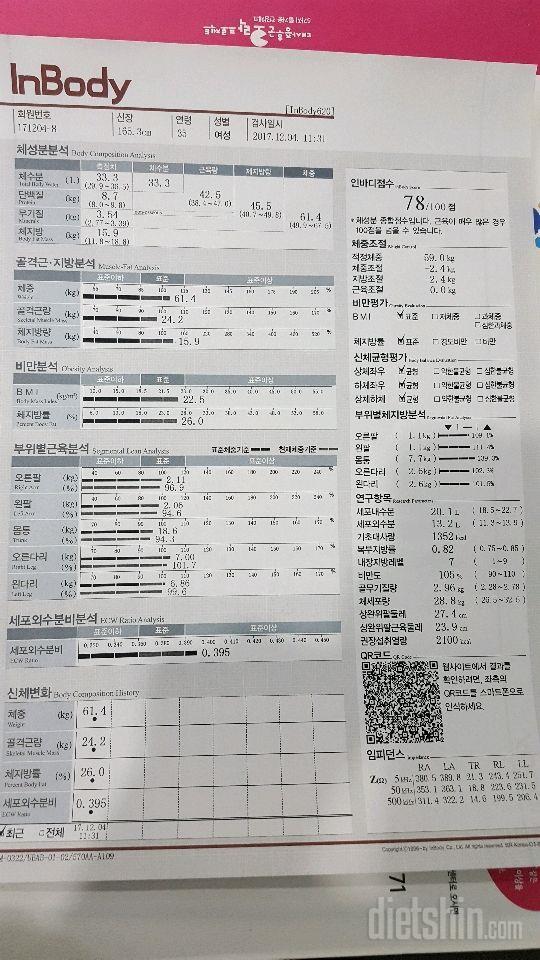 [다신 9기 최종후기] 인바디 등록 완료