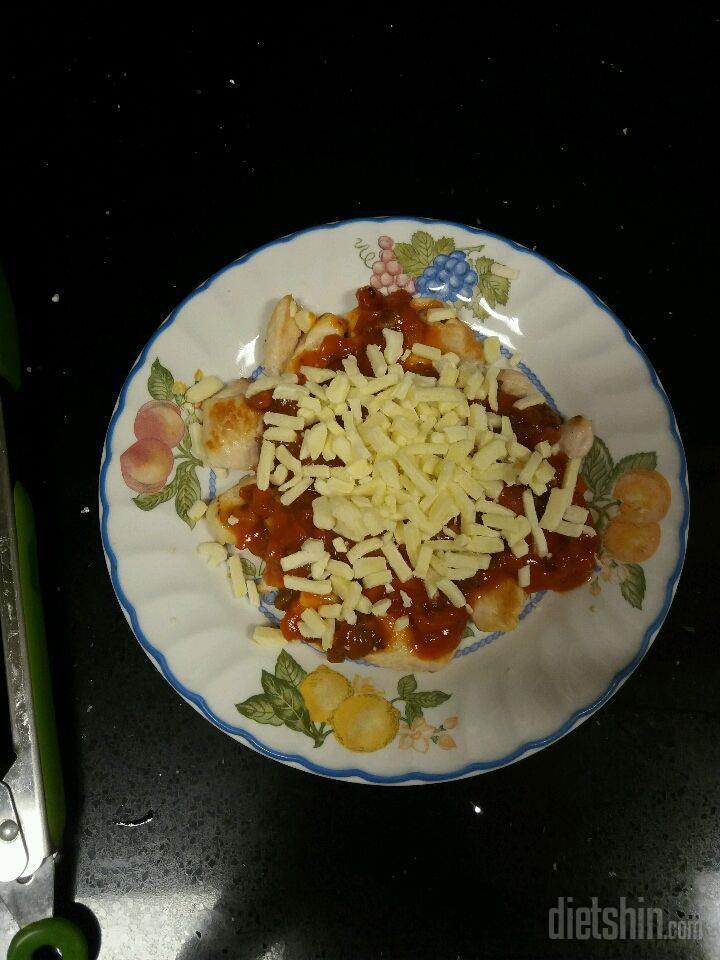 닭가슴살 피자 (지인짜맛있어요 5분걸림)