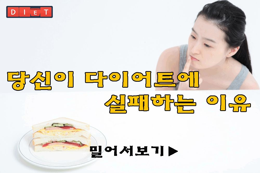 당신이 다이어트에 실패하는 이유