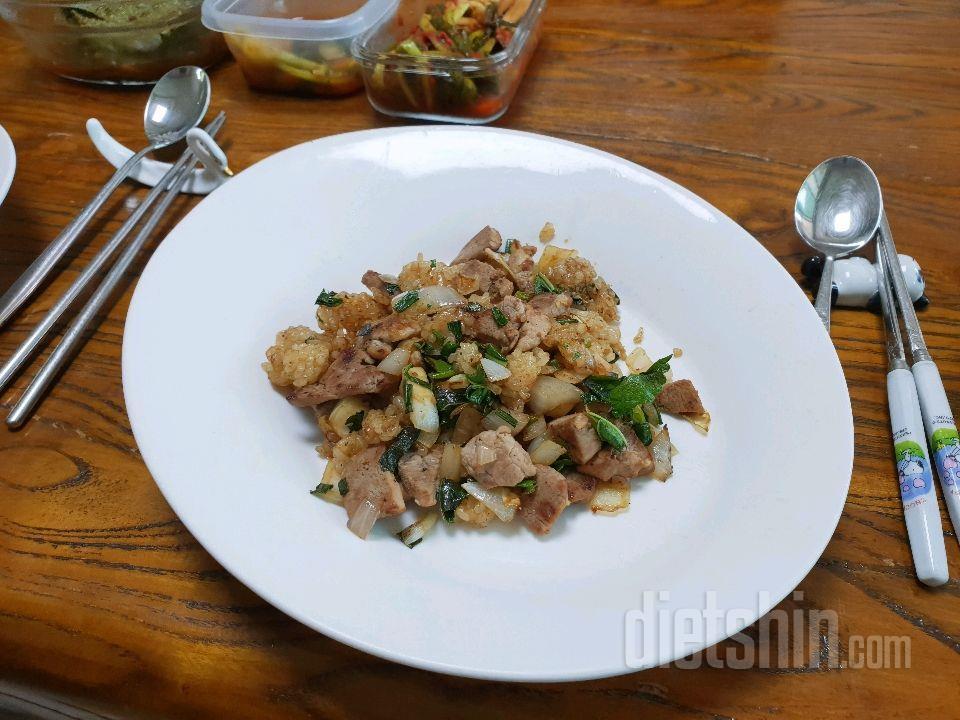 오리볶음밥(생오리, 현미밥)