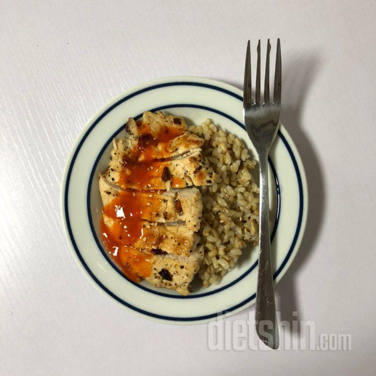 밥이곤약과 닭가슴살