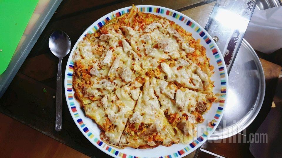 [한 판에 700칼로리!] 탄수화물, 토마토, 오븐 없이 피자 만들기