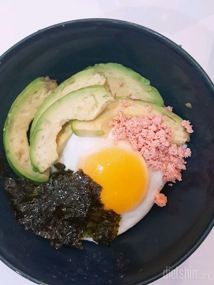명란 아보카도 비빔밥!