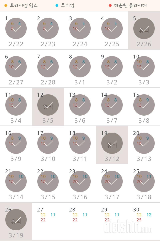 30일 슬림한 팔 146일차 성공!