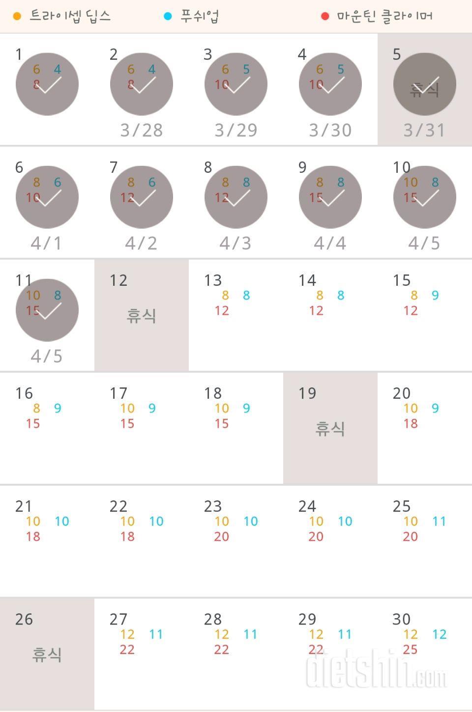 30일 슬림한 팔 131일차 성공!