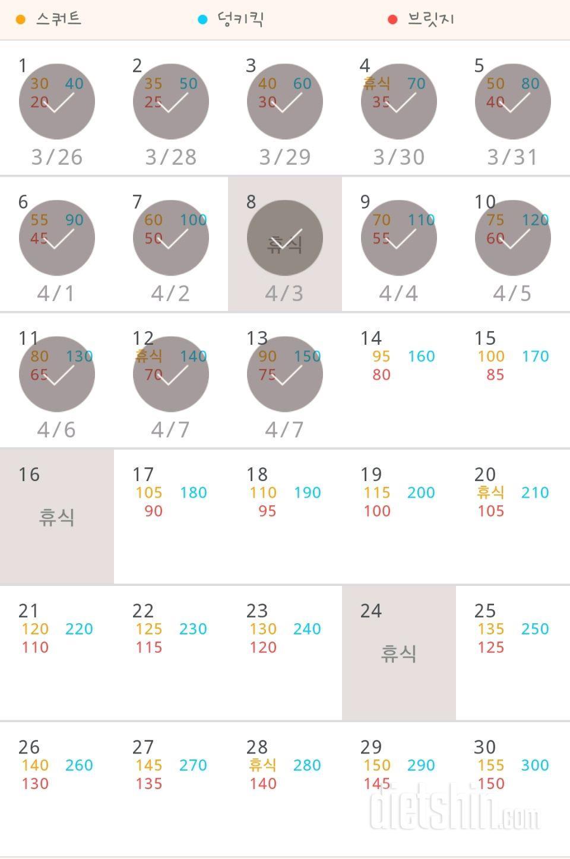 30일 애플힙 13일차 성공!