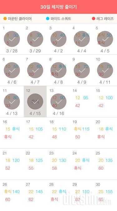 30일 체지방 줄이기 13일차 성공!