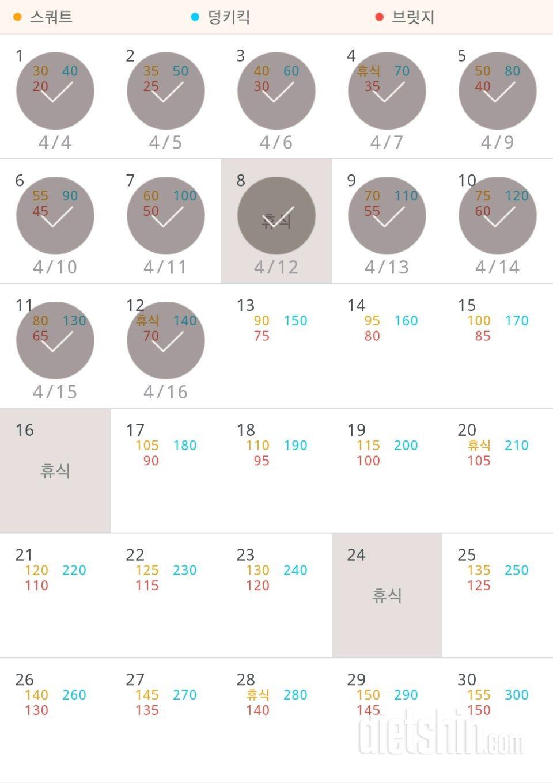 30일 애플힙 42일차 성공!