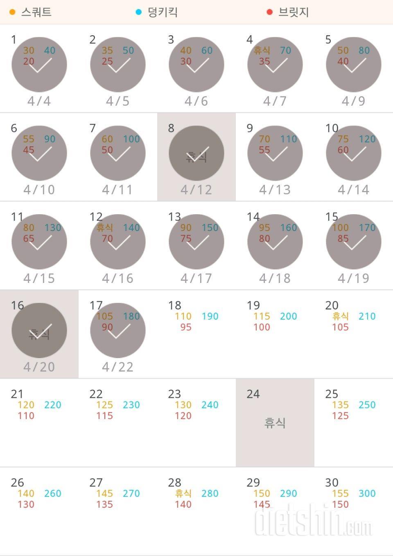 30일 애플힙 47일차 성공!