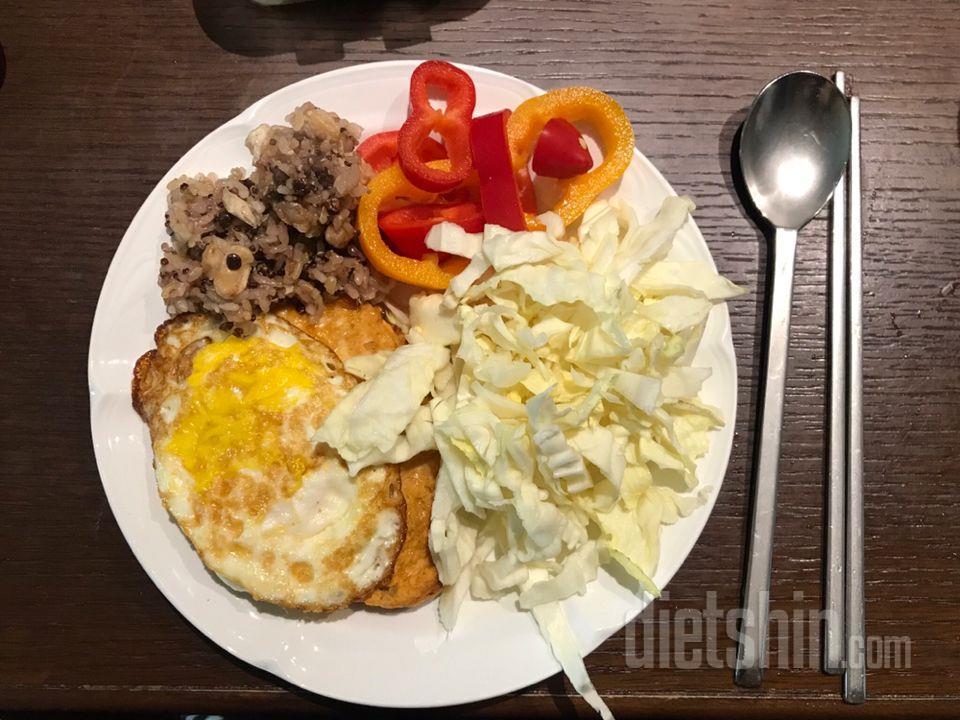 점심 : 치즈불닭 닭가슴살스테이크👍