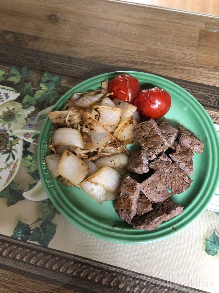 치마살이랑 버섯 양파