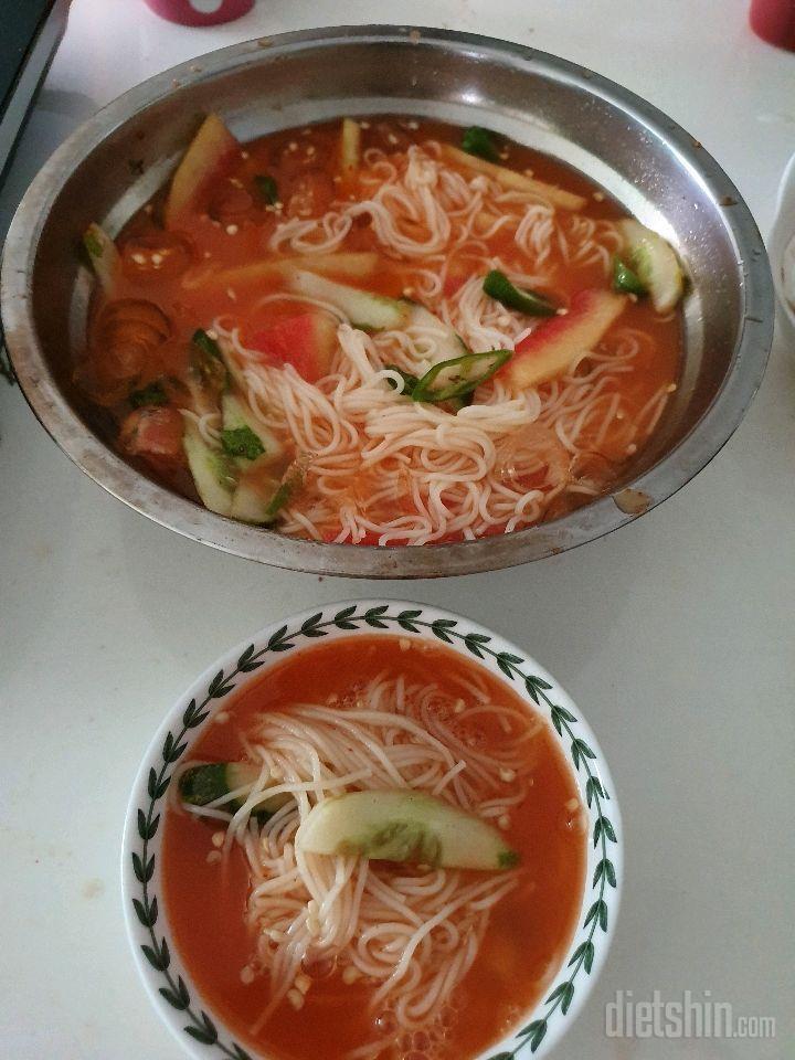 수박김치 샐러드
