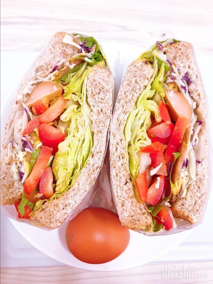 10키로감량 도와준 야채샌드위치