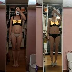 7월 64kg 시작으로 8kg 감량중이에요😊