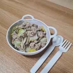 탄단지 완벽조화 돼지알배추버섯덮밥