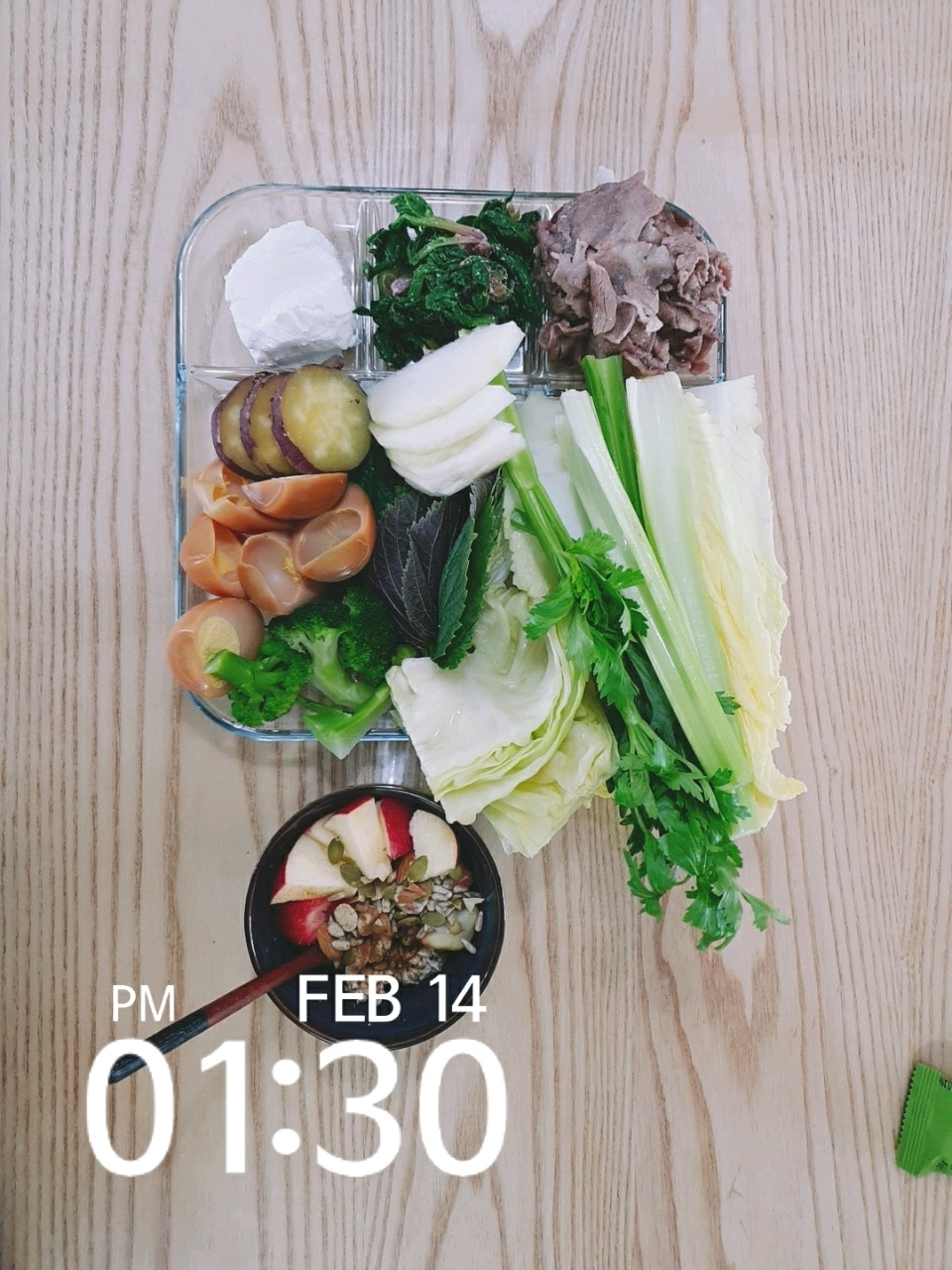 02월 14일( 점심식사 1000kcal)