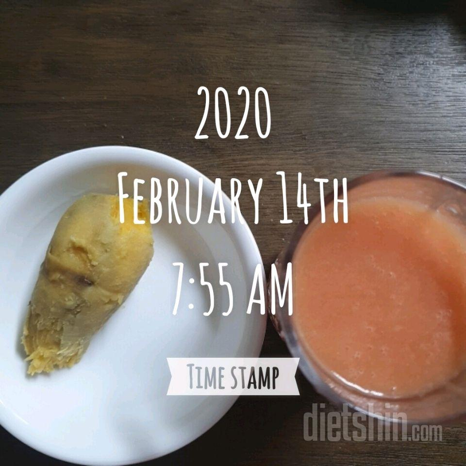02월 14일( 아침식사 134kcal)