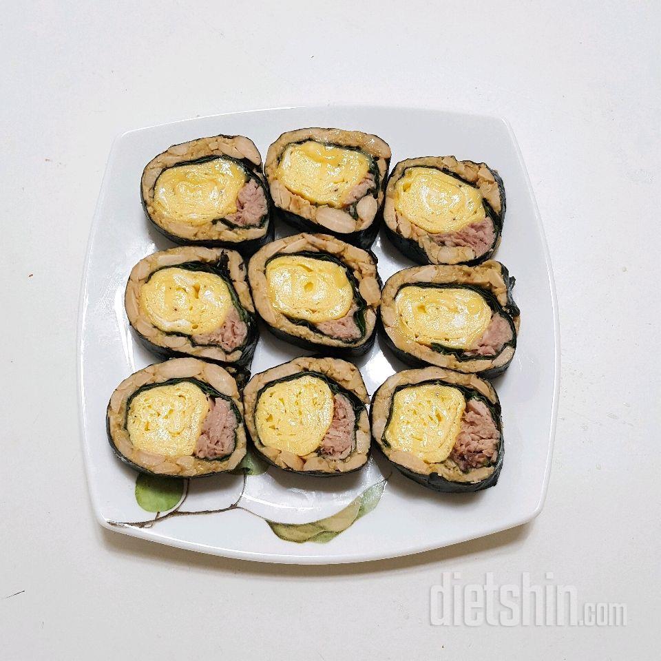 밥대신 낫토 김밥