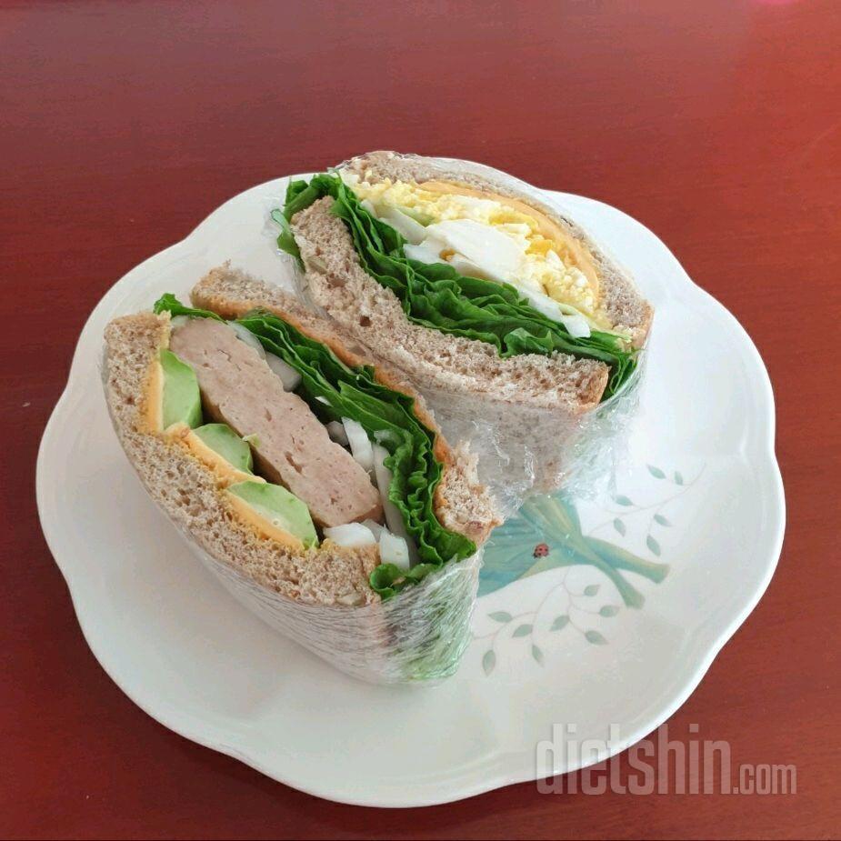 닭가슴살 샌드위치&에그 샌드위치