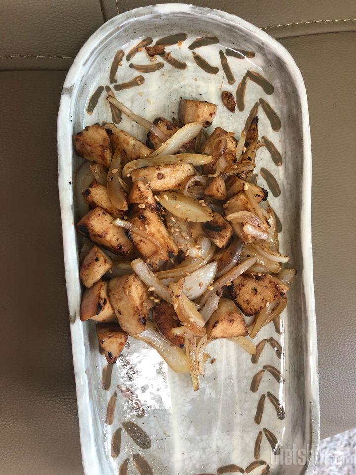 닭가슴살양파 굴소스 볶음