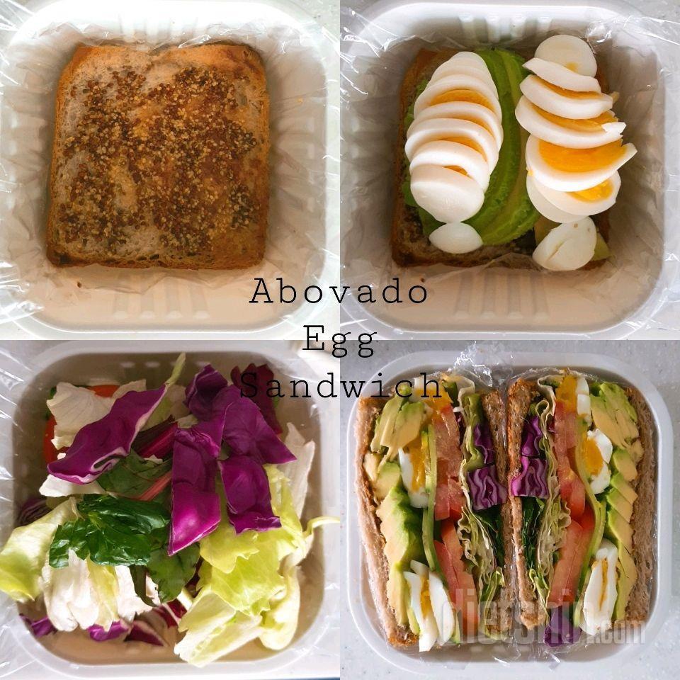 아보카도 계란 샌드위치