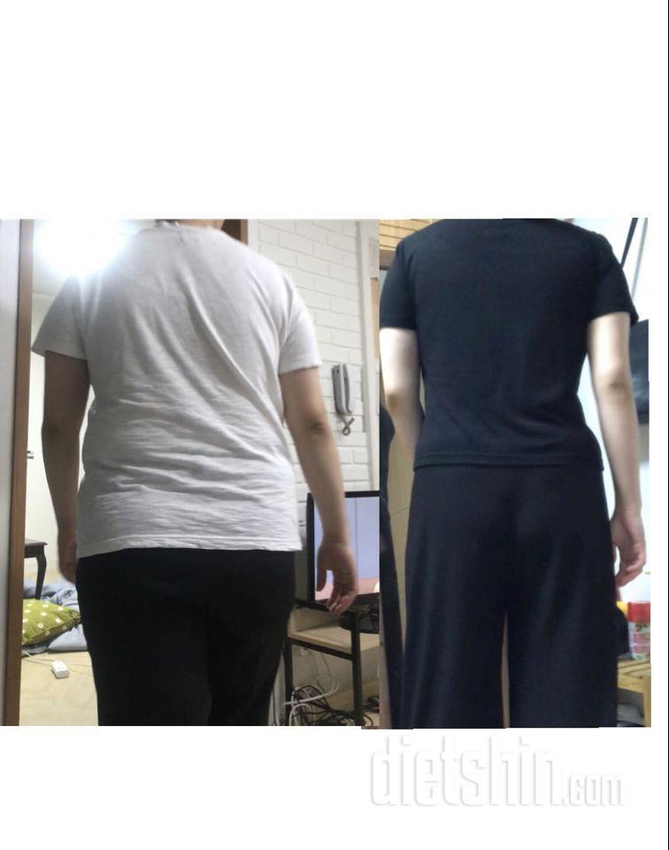 9달동안 16키로 감량 ! 뒷모습 변화 !