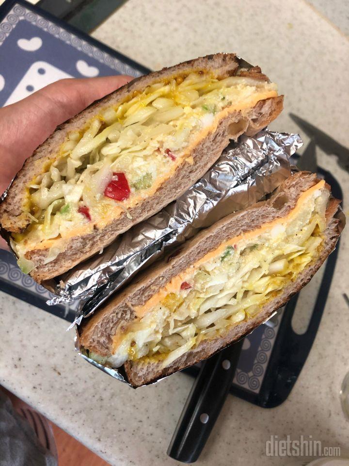 두부마요네즈+샌드위치