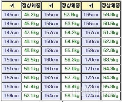 🏖 표준체중 VS 미용체중 ❤