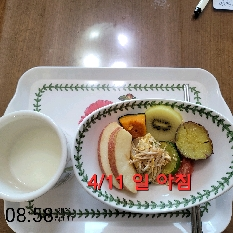 04월 11일( 아침식사 196kcal)