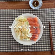 04월 11일(아침 372kcal)