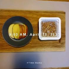04월 12일( 아침식사 127kcal)