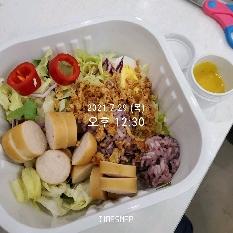 07월 29일( 점심식사 287kcal)