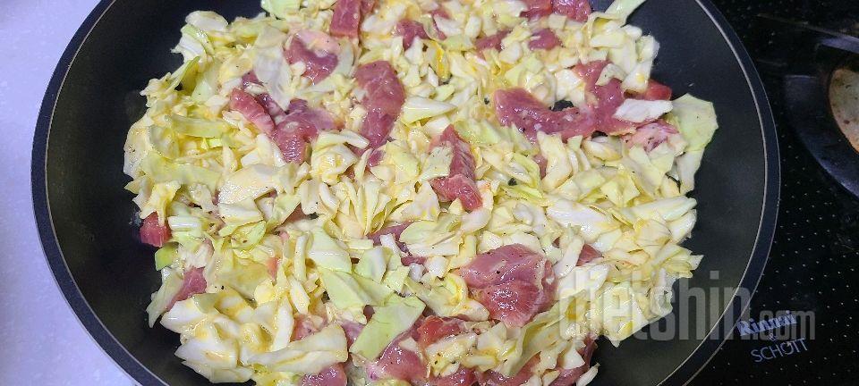 양배추 고기 볶음