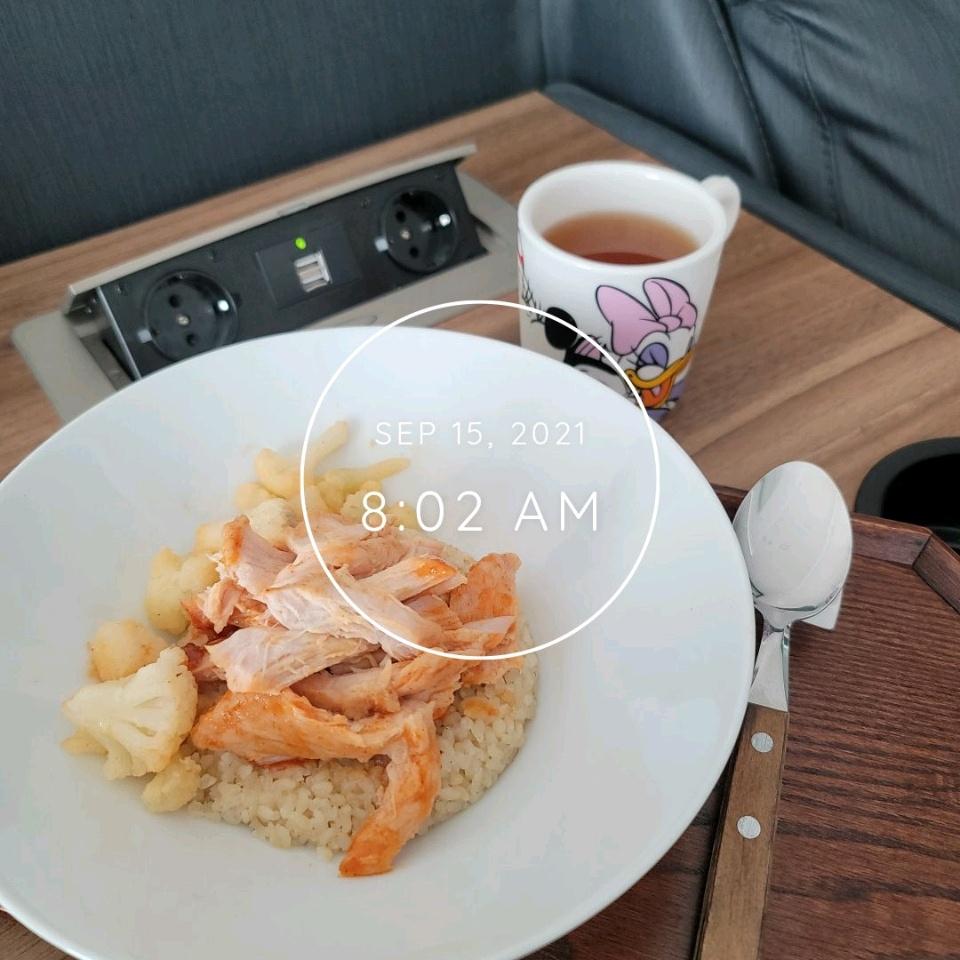 09월 15일( 아침식사 322kcal)