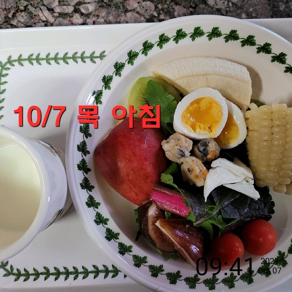 10월 07일( 아침식사 302kcal)