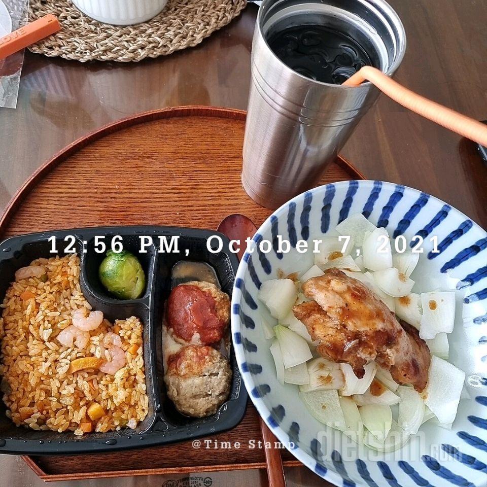 10월 07일( 점심식사 597kcal)