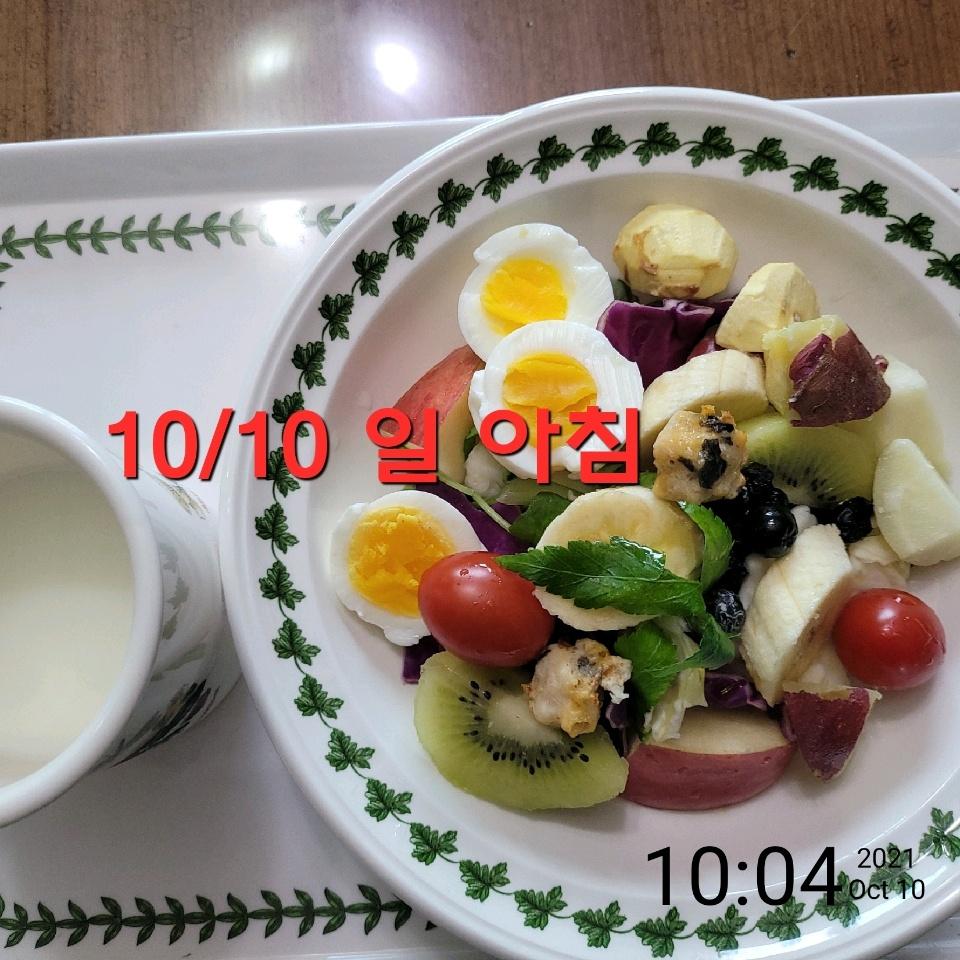 10월 10일( 아침식사 377kcal)