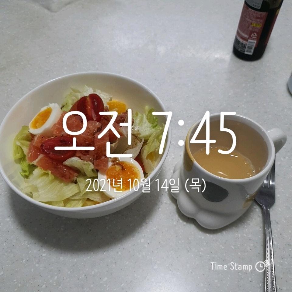 10월 14일( 아침식사 472kcal)