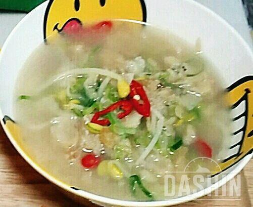 황태 콩나물국 (73kcal/1인분)