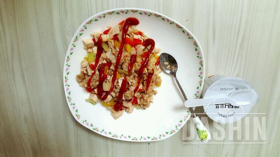 닭가슴살 볶음밥  ( 180 ~ 190 kcal) 레시피