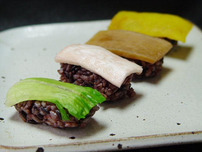 현미 채소 초밥