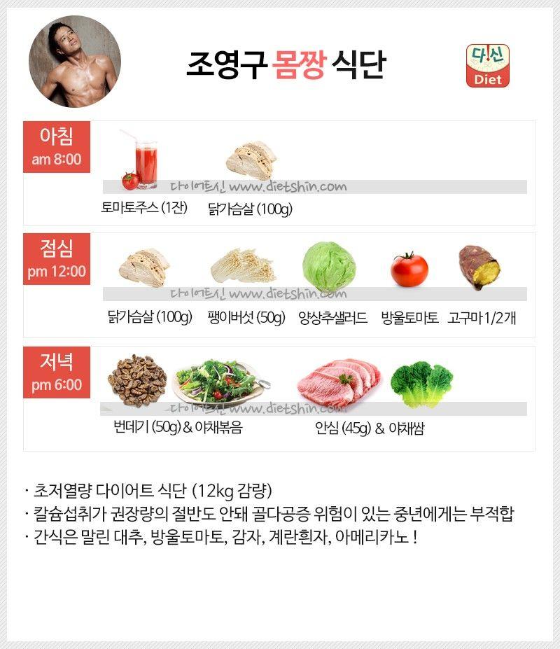 방송인 조영구 식단표 (12kg 감량 식단)