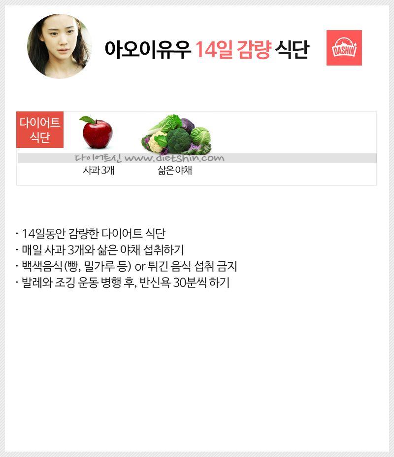배우 아오이유우 식단표 (14일 감량 식단)