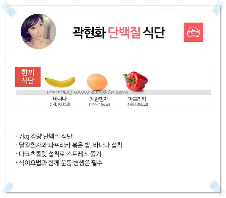 개그맨 곽현화 식단표 (7kg 감량 식단)