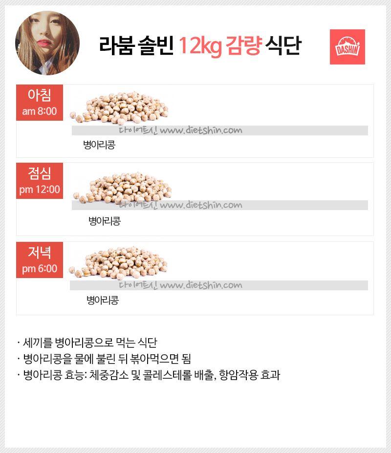 라붐 솔빈 식단표 (12kg 감량 식단)
