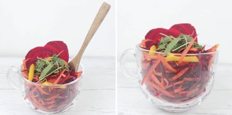디톡스에 도움되는 레인보우 루트 샐러드!
